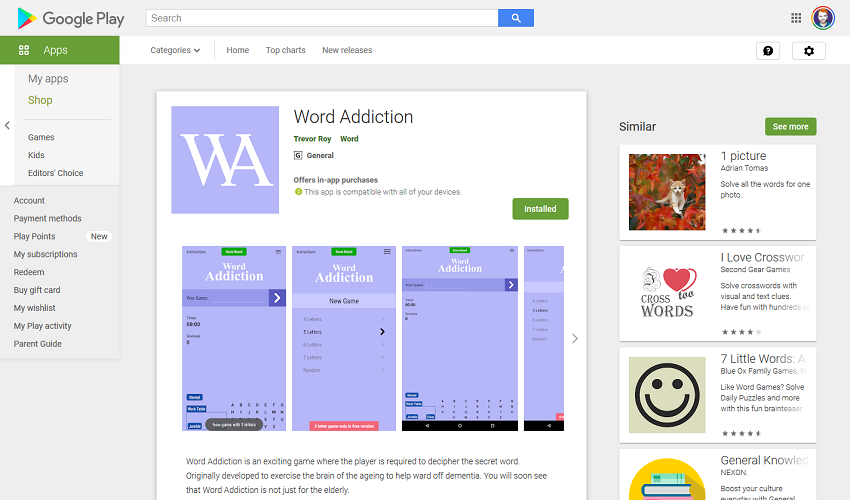 Word Addiction